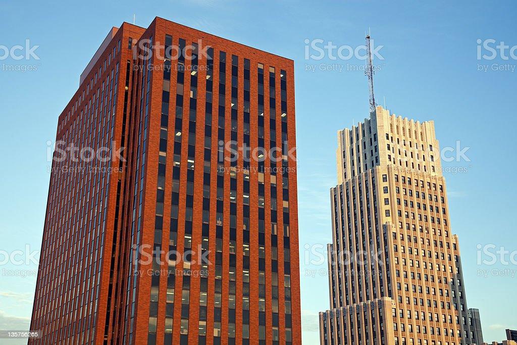 Architecture of Akron, Ohio stock photo