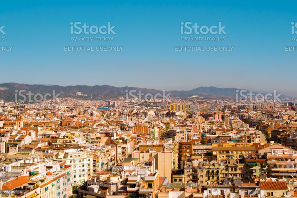 BARCELONA, SPAIN - OCTOBER 16, 2013: Architecture of Barcelona. Barcelona — the city in Spain, the capital of the autonomous Region of Catalonia and the province of the same name. stock photo