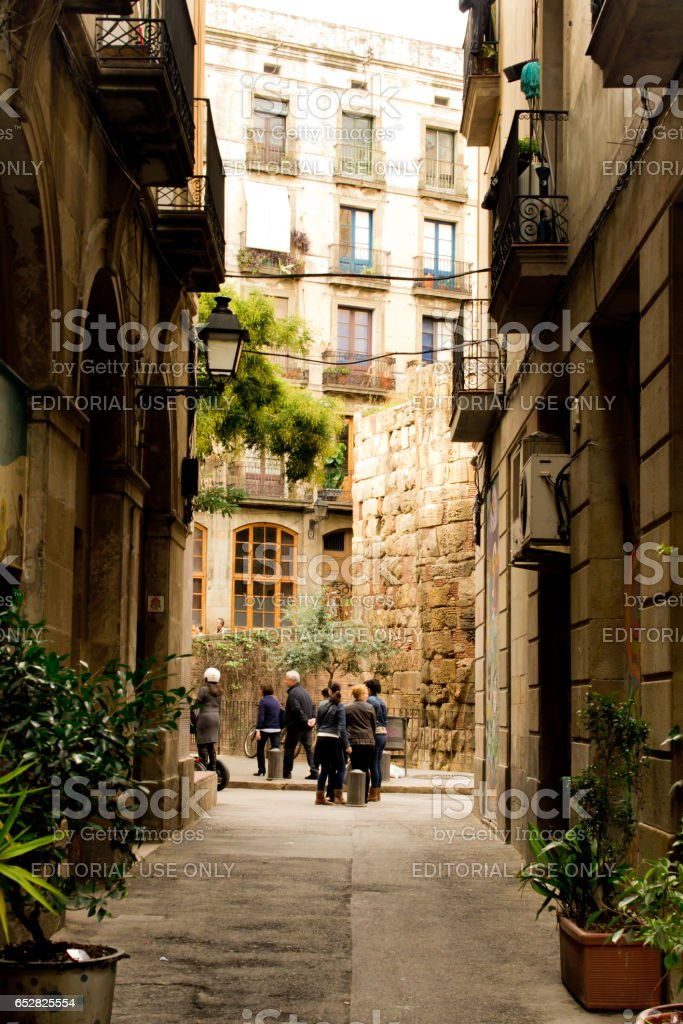 Architecture of Barcelona. Gothic quarter. Barcelona — the city in...