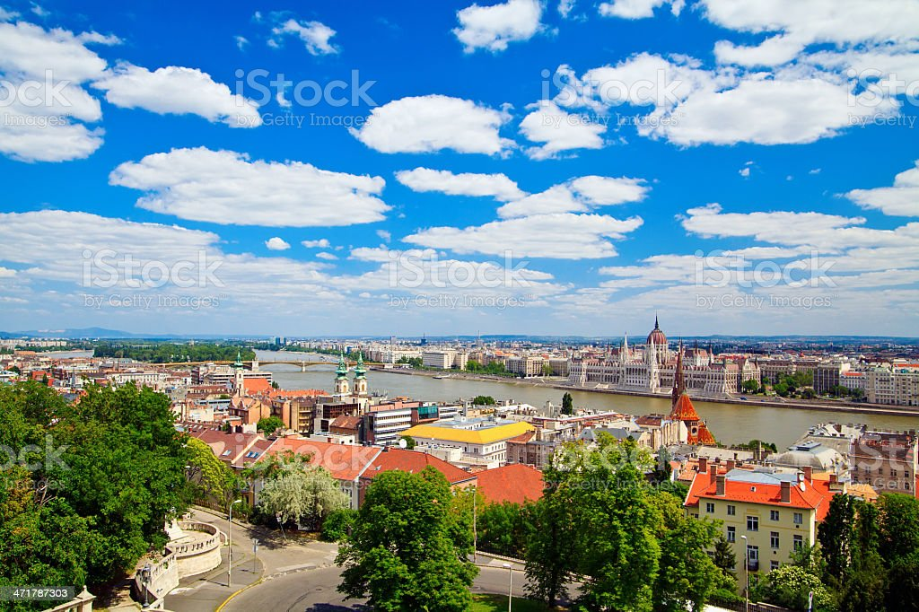 Architecture of Budapest royalty-free stock photo