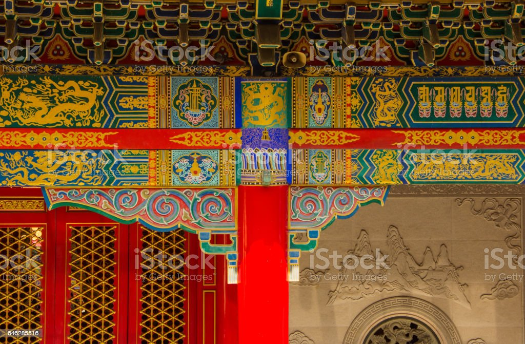 Architecture of Chinese temple stock photo