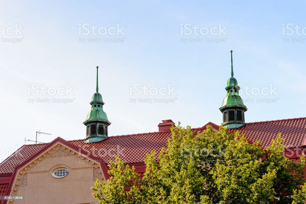 Architecture of Helsinki, Finland stock photo