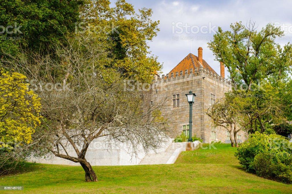 Architecture of Historic Centre of Guimaraes, Portugal. UNESCO World Heritage stock photo