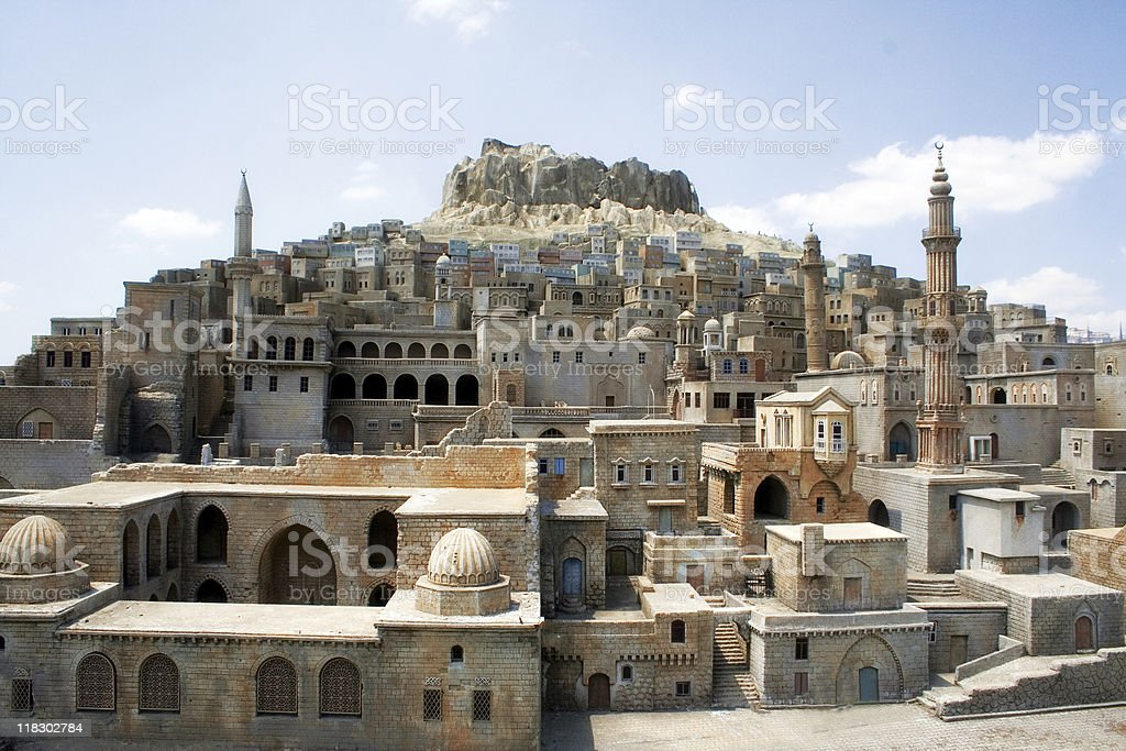 Architecture of historical ancient city stock photo