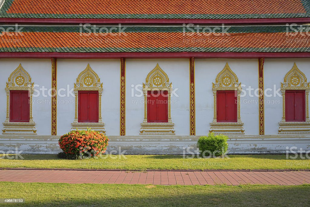 architecture of northern thailand in temple buddhism royalty-free stock photo