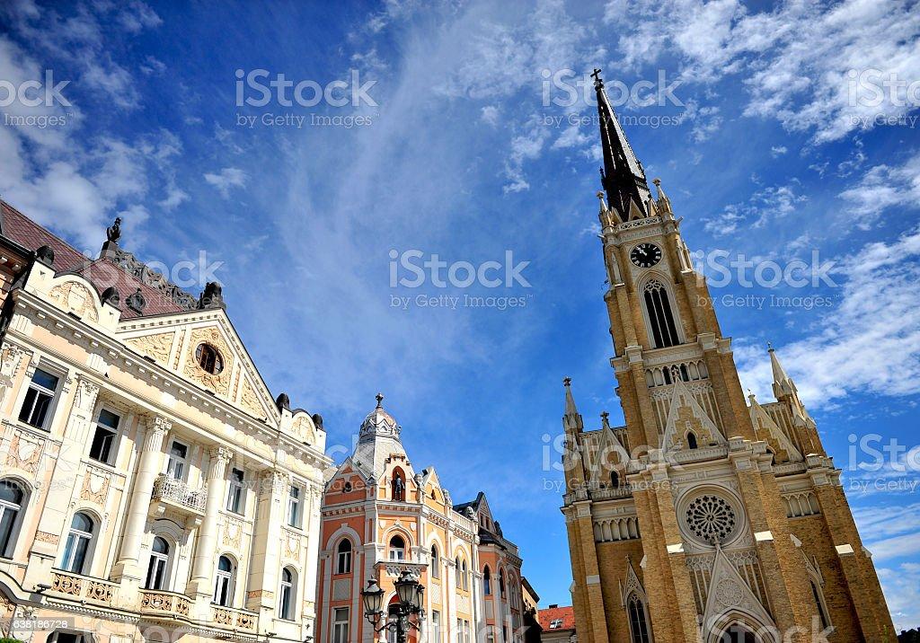 Architecture of Novi Sad city stock photo