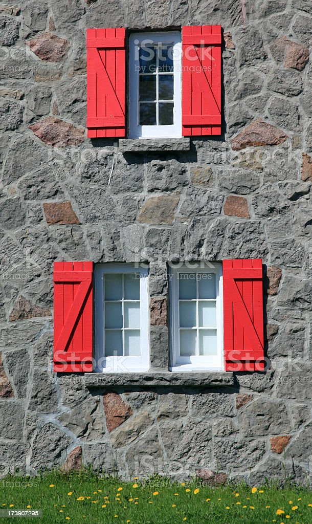 Architecture of Old Quebec City, Canada stock photo