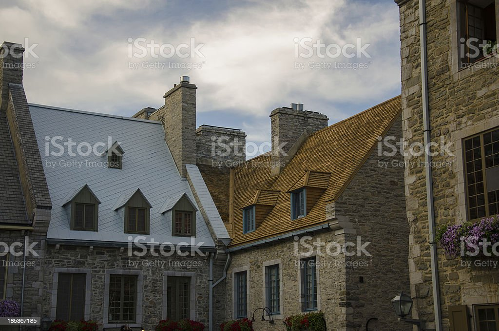 Architecture of Old Quebec City, Street, Canada stock photo