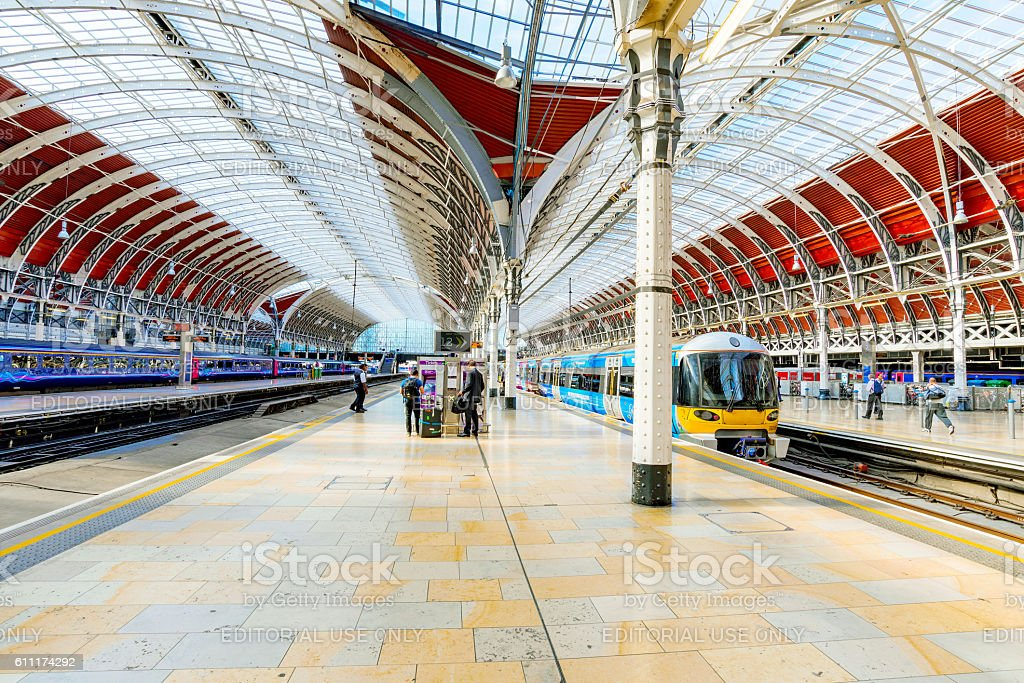 Architecture of Paddington station stock photo