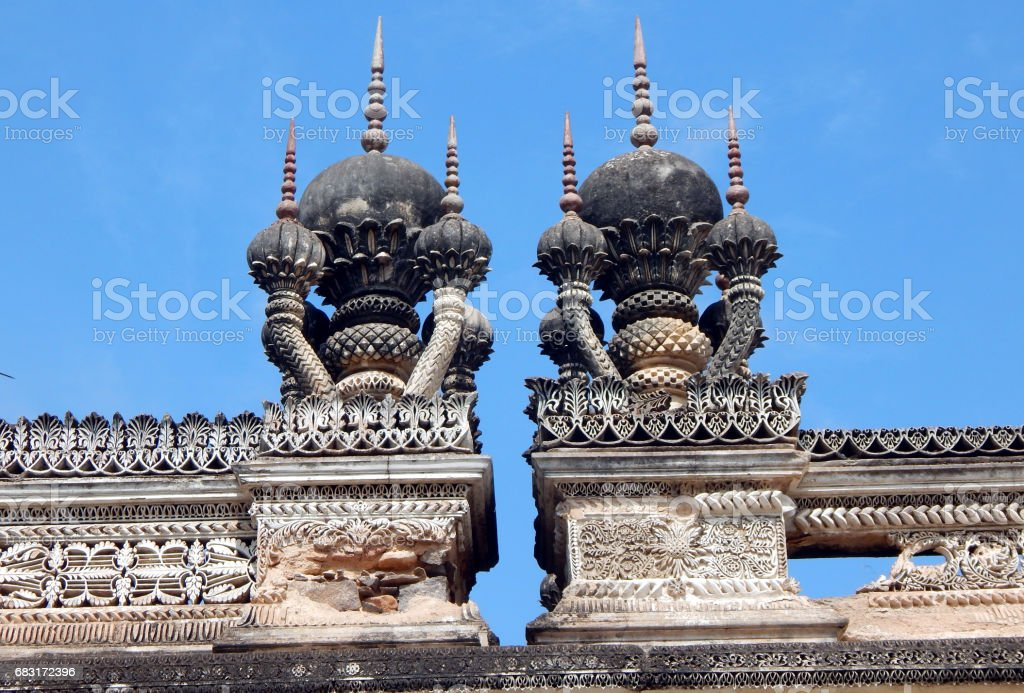 Architecture of Paigah tombs, Nobles of Princely State of Hyderabad,India in 1800s, stock photo