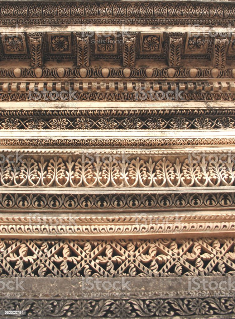 Architecture of Paigah tombs, Nobles of Princely State of Hyderabad,India in 1800s,relatives of Nizams the rulers stock photo