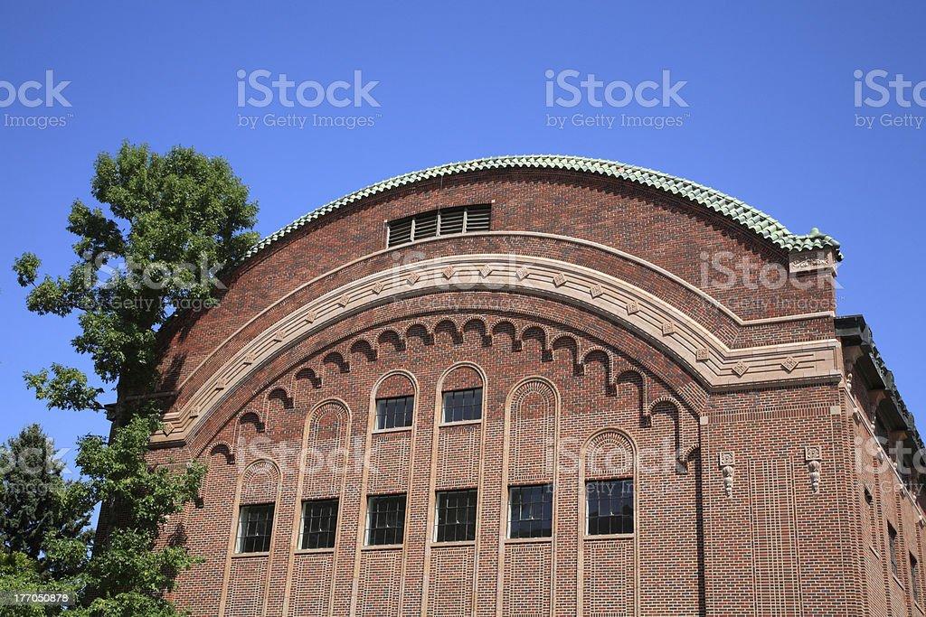 Architecture Of Romney Gym Montana State University stock photo