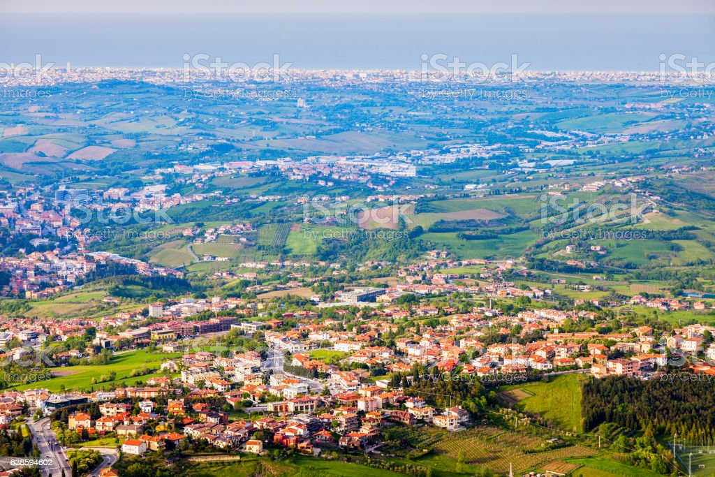 Architecture of San Marino stock photo