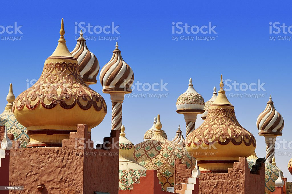 Architecture of Sharm el Sheikh, Egypt stock photo