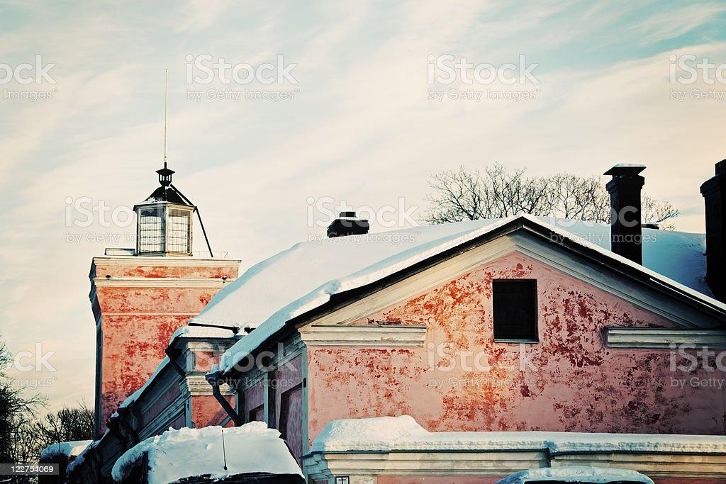 Architecture of Suomenlinna Sea Fortress royalty-free stock photo