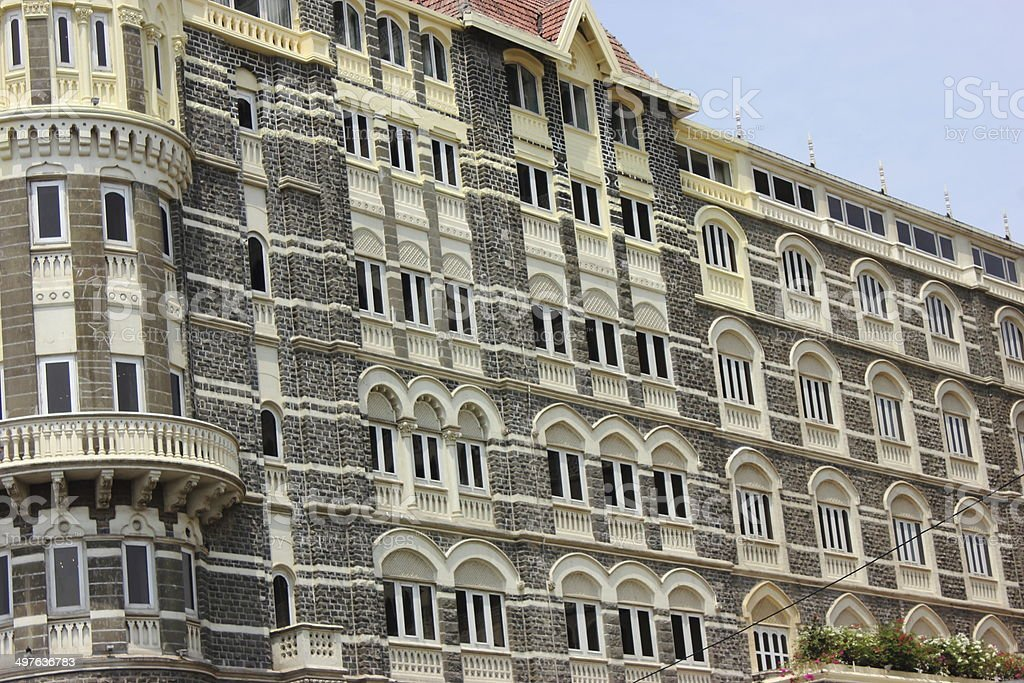 Architecture of Taj Mahal hotel in Mumbai royalty-free stock photo