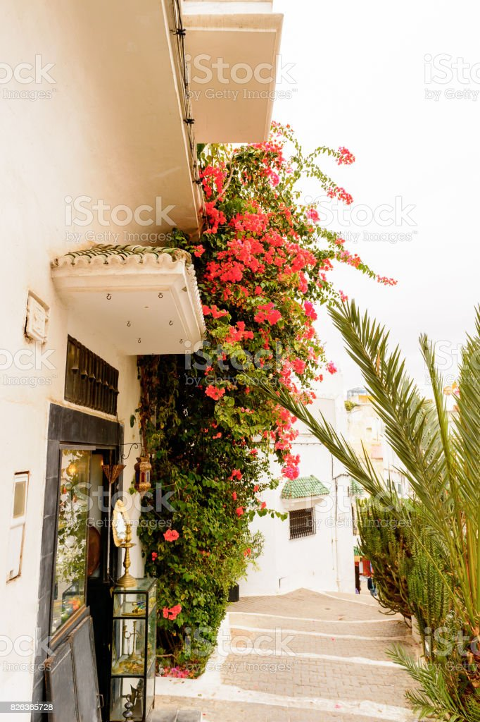 Architecture of Tangier, a major city in northern Morocco. It is the...