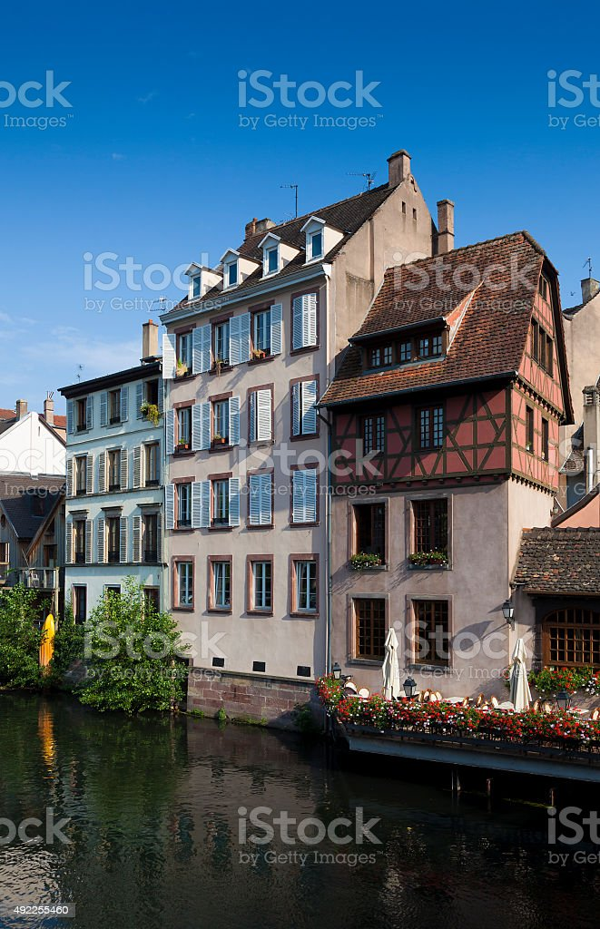 Architecture of the Petite france, Strasbourg stock photo