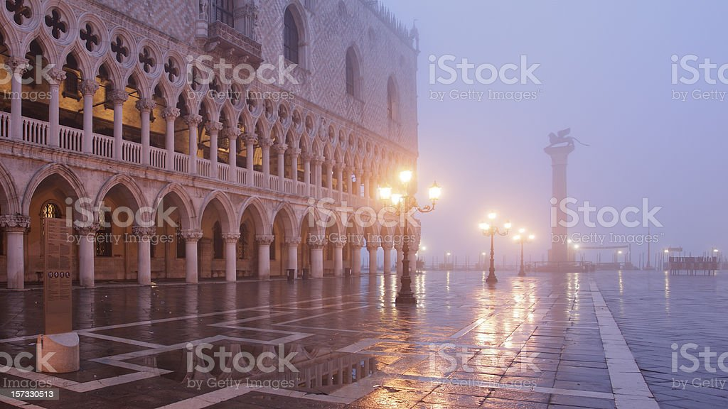 Architecture of Venice at dawn stock photo
