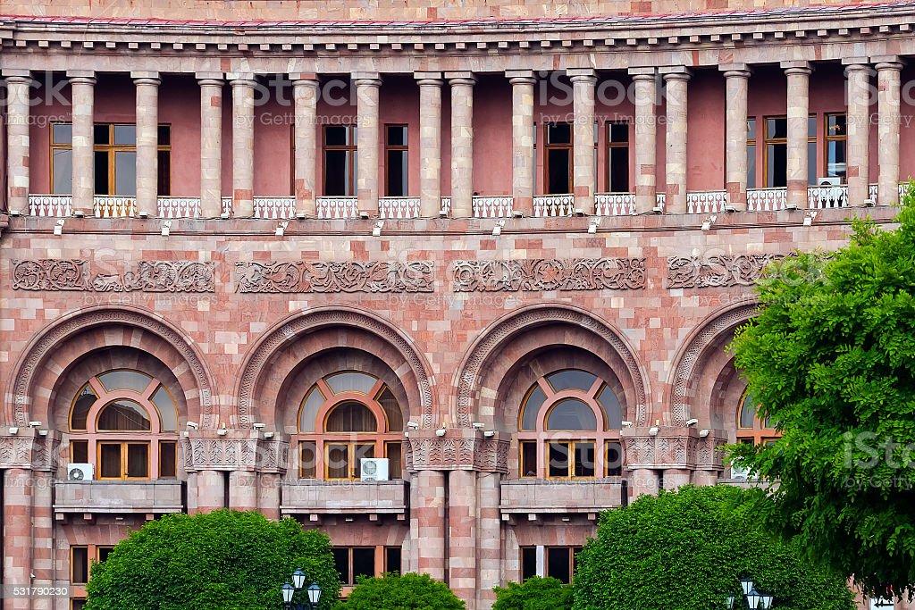 architecture of Yerevan stock photo