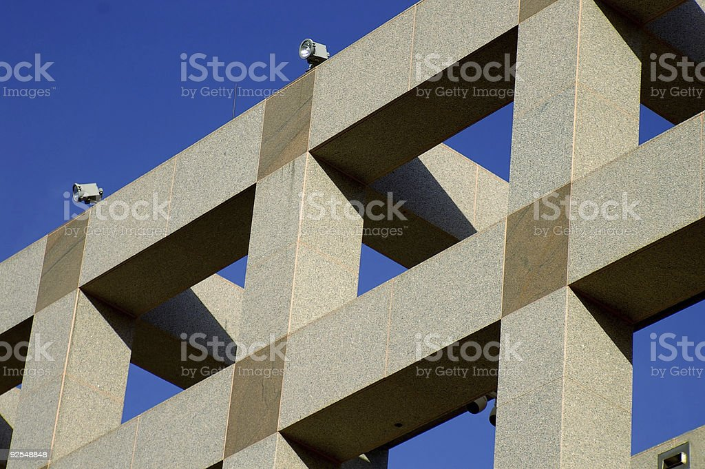 Architecture on blue royalty-free stock photo