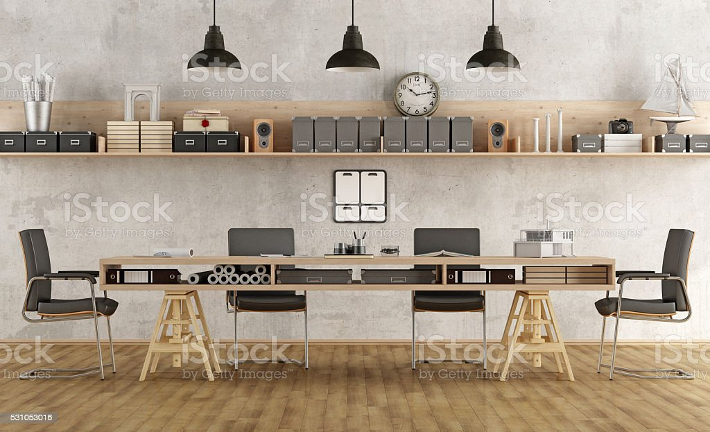 Architecture or engineering  boardroom stock photo