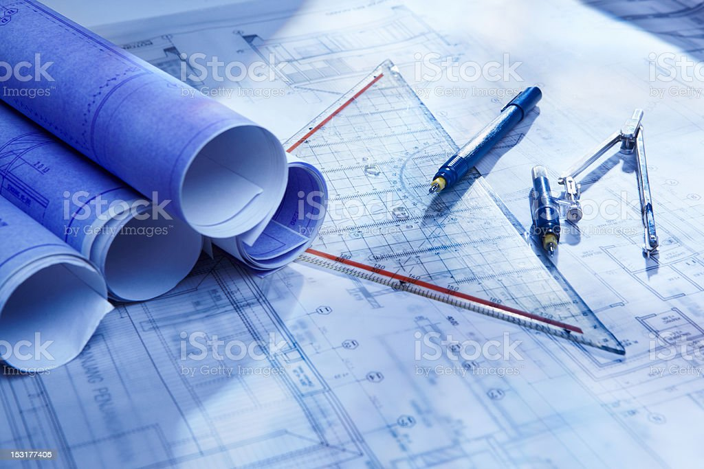 Architecture paperwork royalty-free stock photo