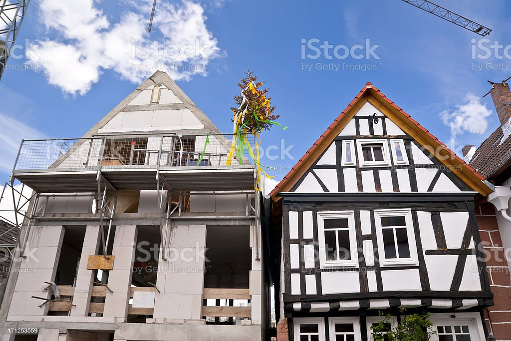 Architecture Past and Present stock photo