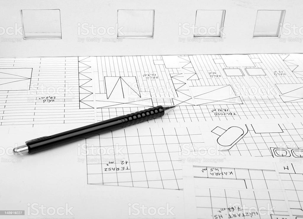 architecture plan royalty-free stock photo