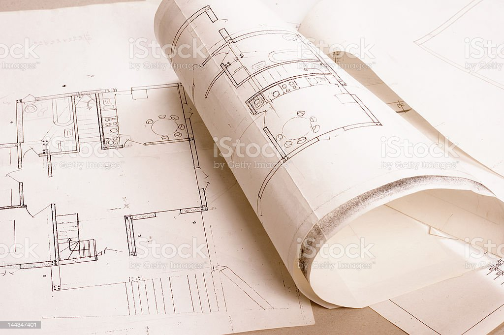 Architecture project stock photo