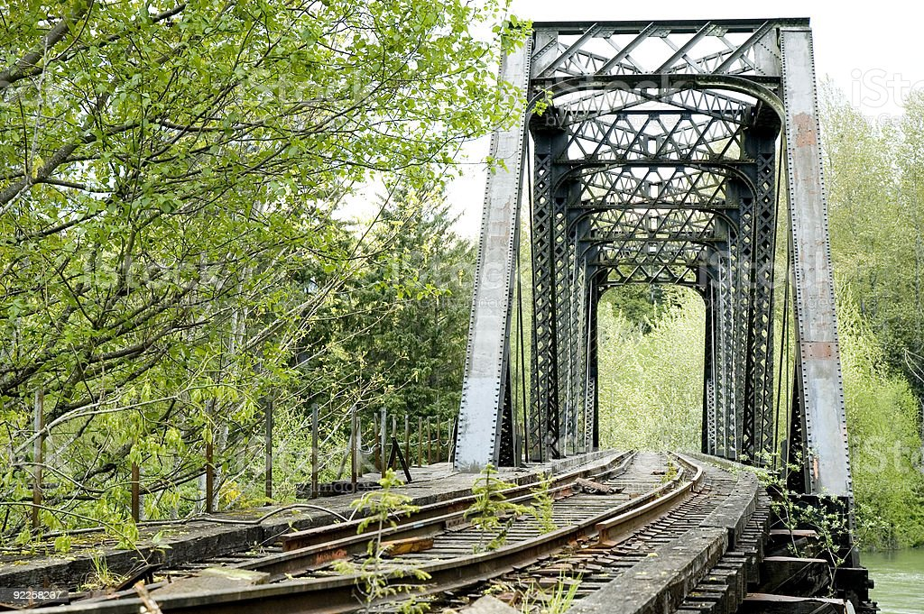 Architecture - Railroad Tressel 8 royalty-free stock photo