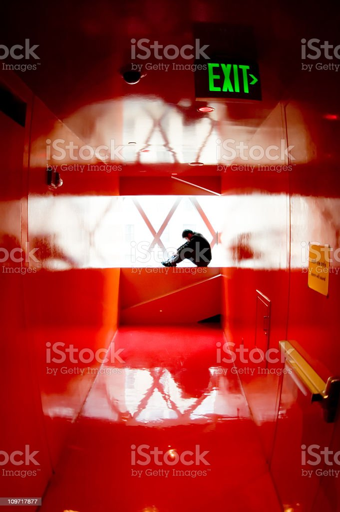 Architecture - Red Reflections 1 royalty-free stock photo