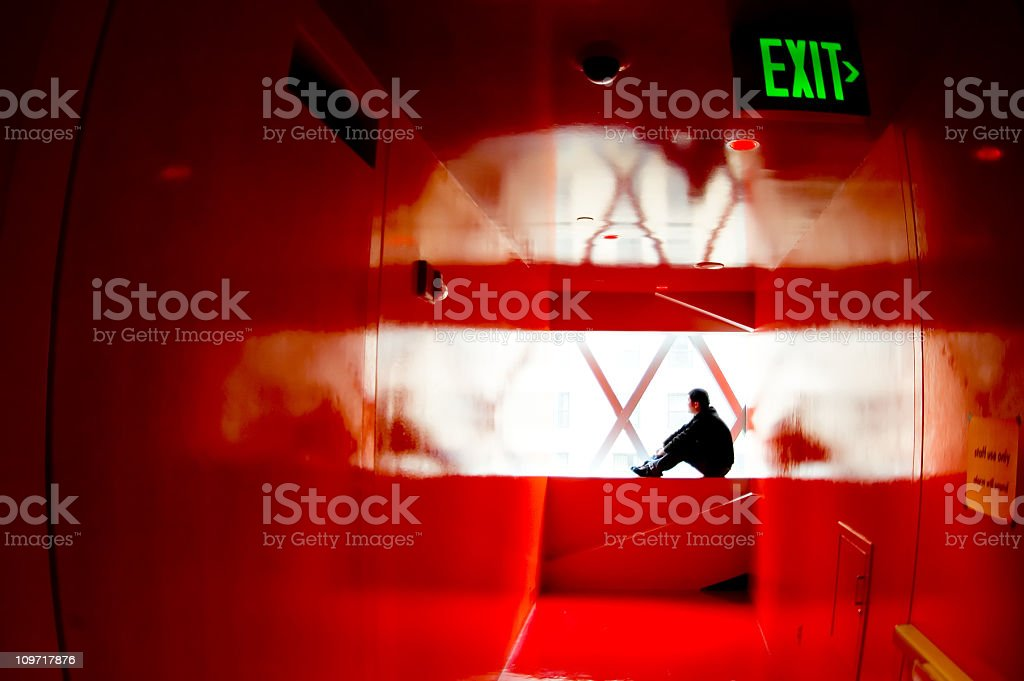 Architecture - Red Reflections 2 royalty-free stock photo