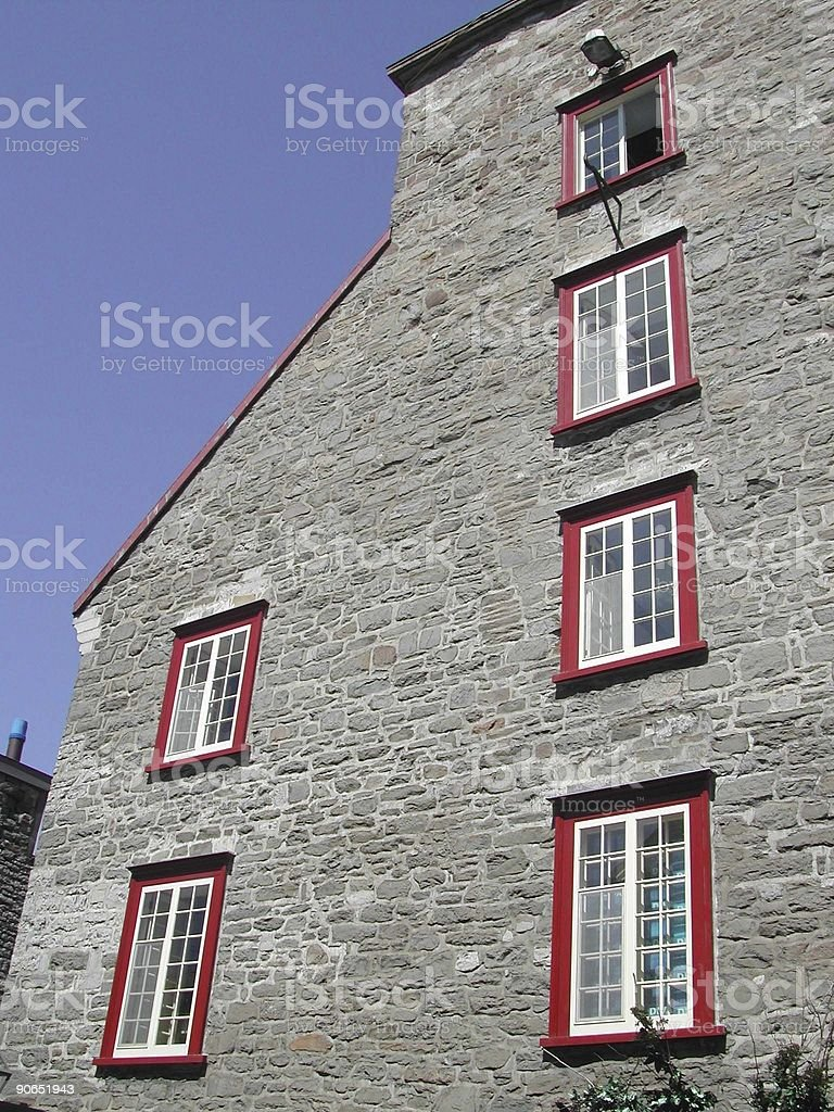 Architecture - Red Window Frames royalty-free stock photo