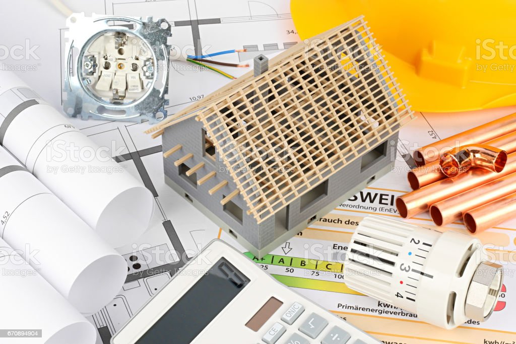 architecture resindental house construction stock photo