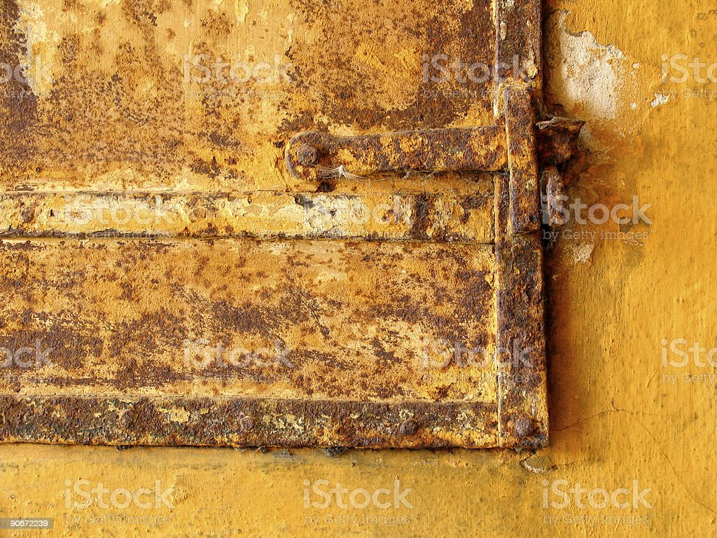Architecture - Rusty door #3 royalty-free stock photo
