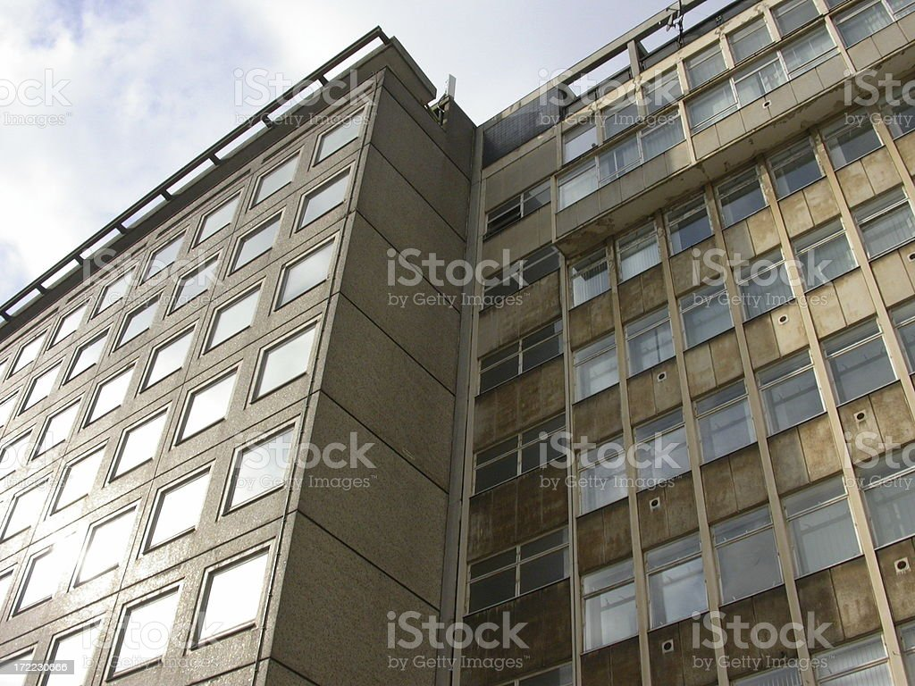 Architecture - Sixties Offices royalty-free stock photo