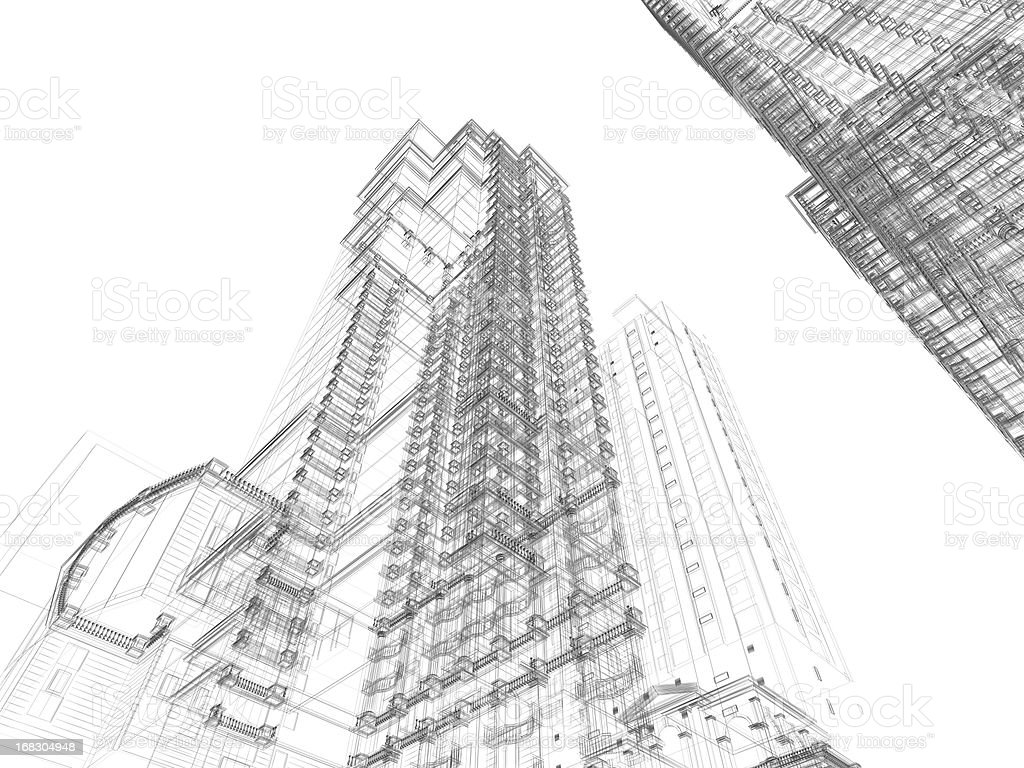 Architecture Sketch royalty-free stock photo