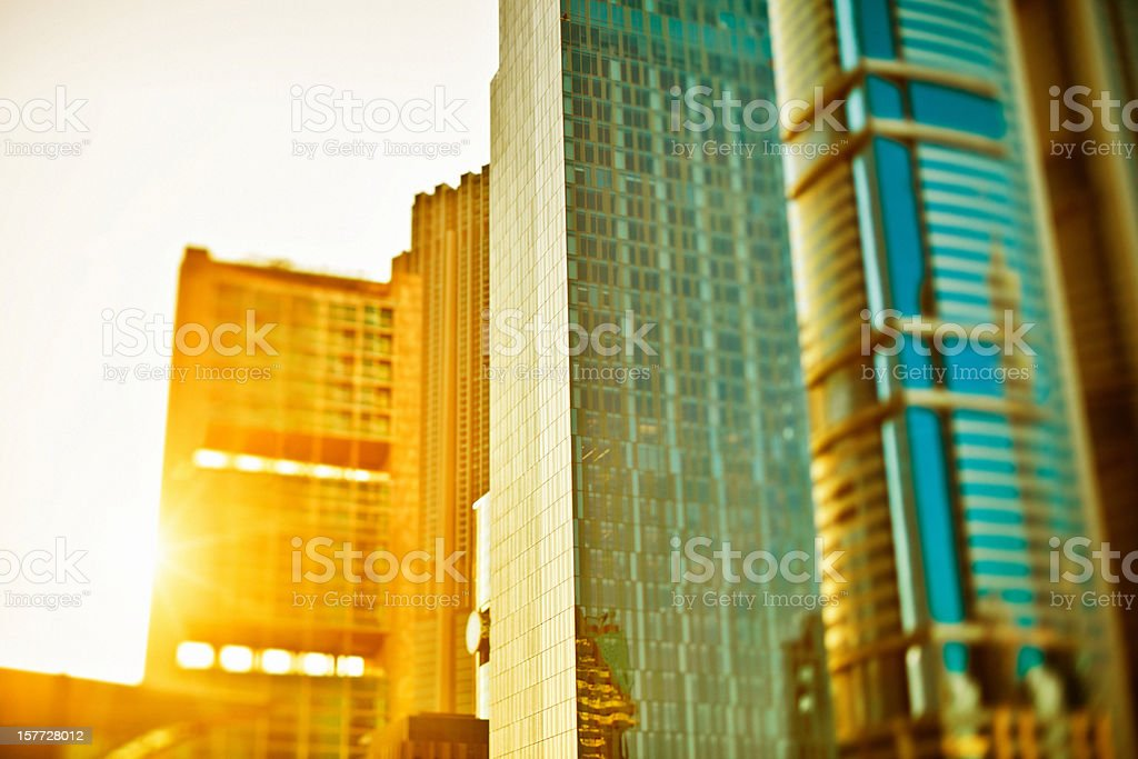 Architecture Skyscrapers Downtown District royalty-free stock photo