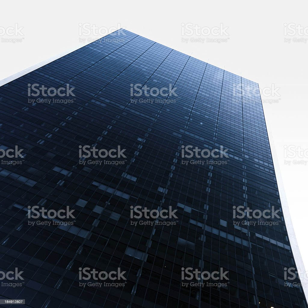 Architecture skyscrapers in New York City royalty-free stock photo