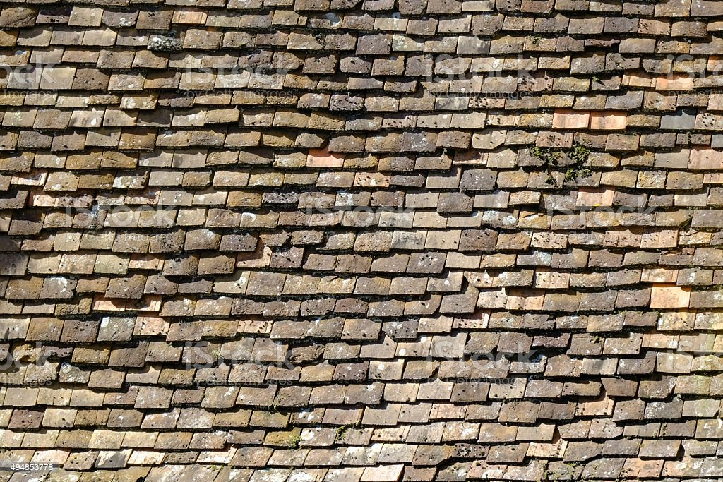 Architecture texture - roof tiles stock photo