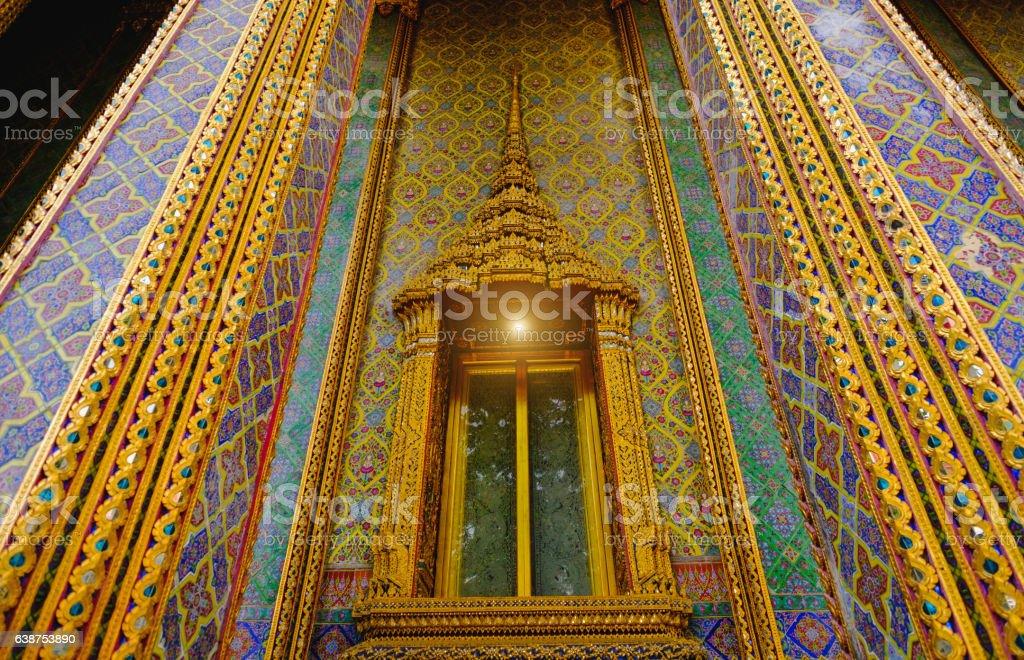 architecture Thai style temple. stock photo