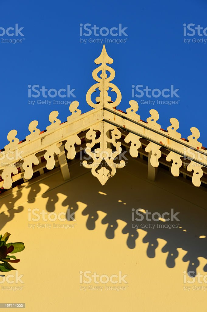 Architecture: tropical eaves royalty-free stock photo