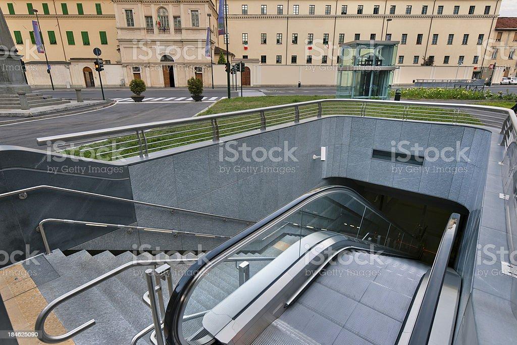 Architecture Turin metropolitan esterior stock photo