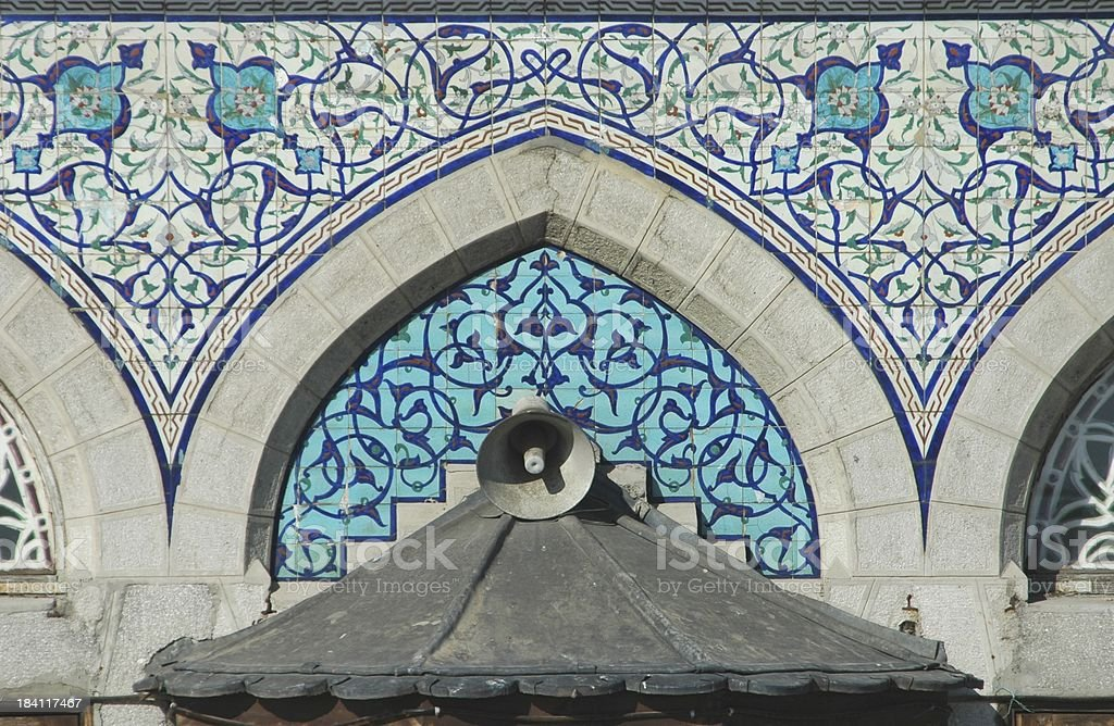 Architecture - Turkish Blue tiles royalty-free stock photo