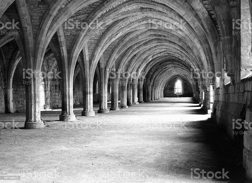 Architecture - Vaults Late Century 1100 stock photo
