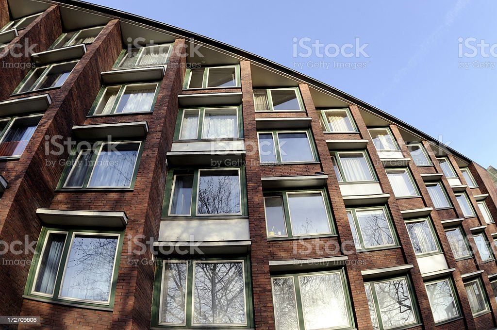 architecture wide angle royalty-free stock photo