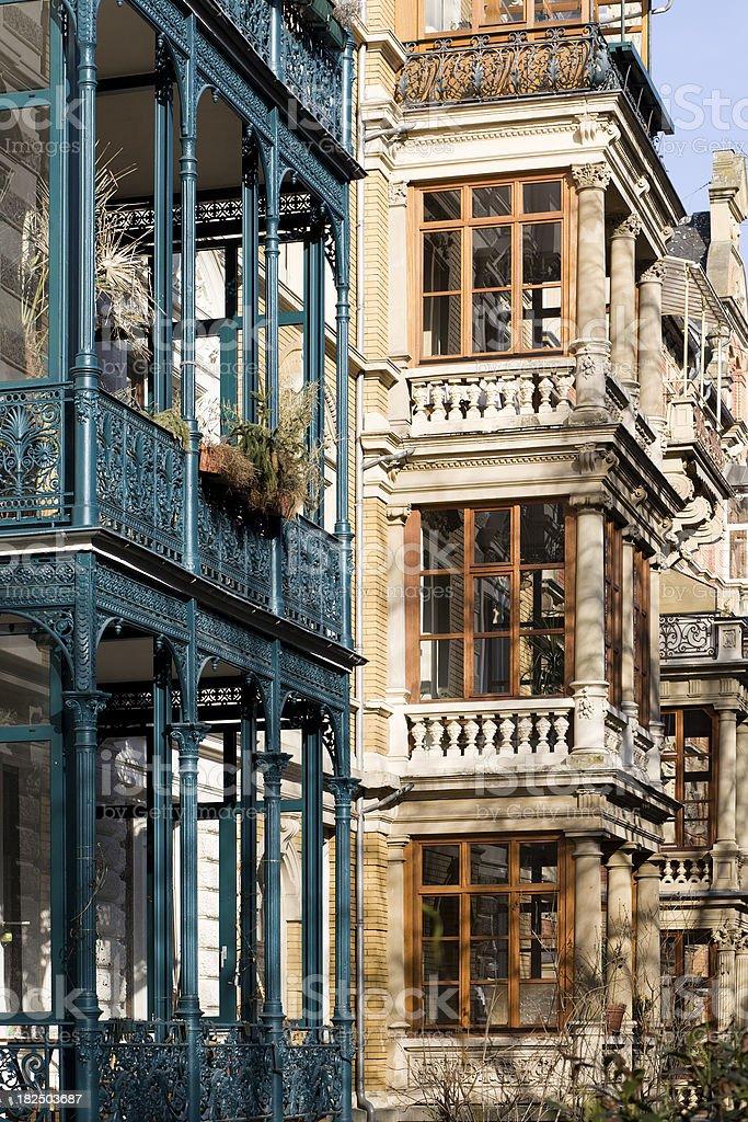 Architecture - Wilhelminian style stock photo