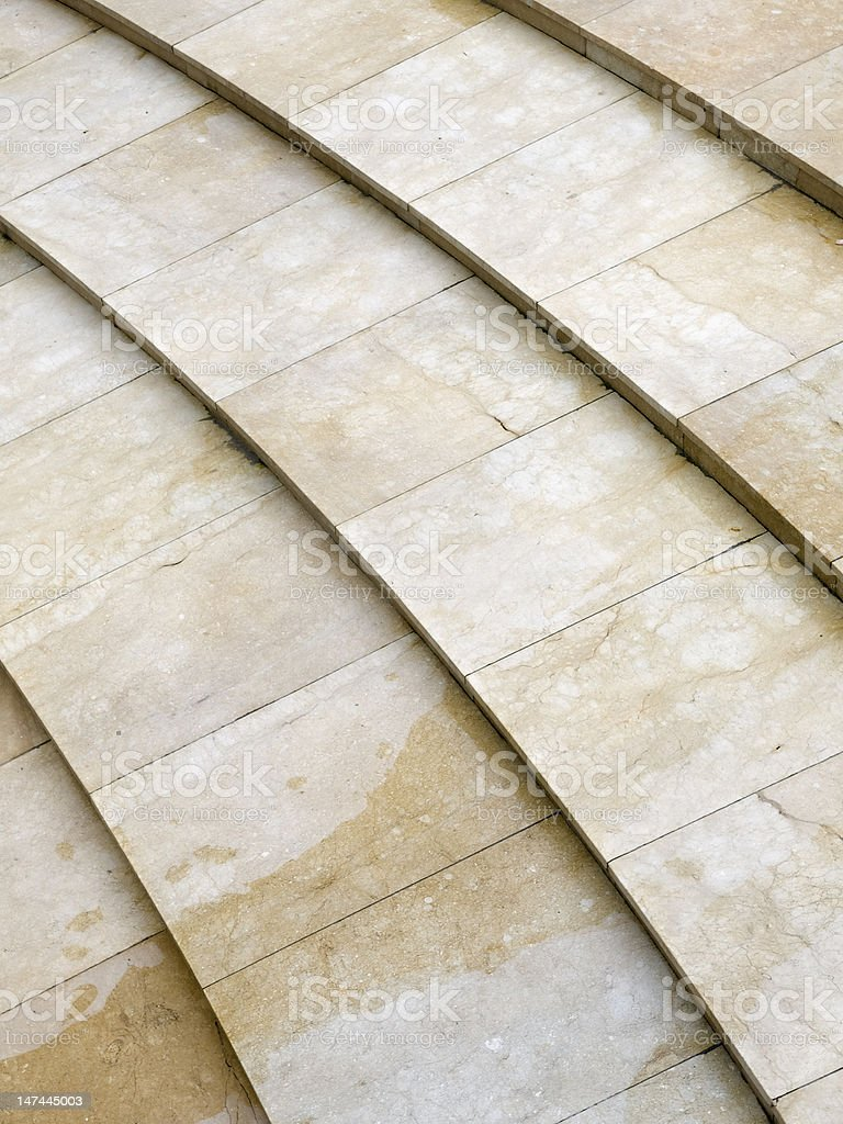 Architecture with lines on the floor royalty-free stock photo