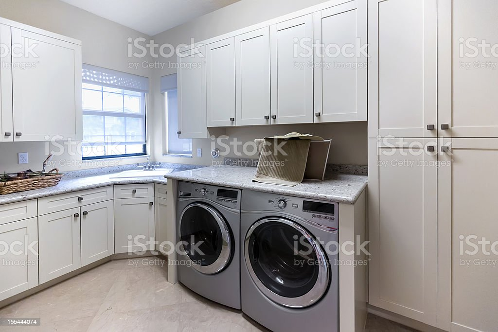 Architecture:Custom built-in  Laundry room stock photo